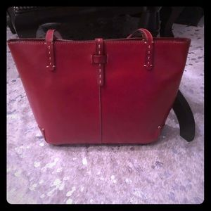 Ann Taylor Red Tote